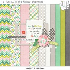 Quality DigiScrap Freebies: It's The Little Things mini kit freebie from Kim B Designs