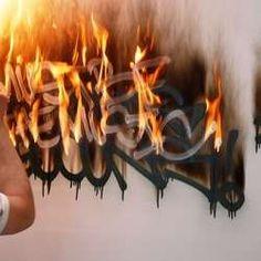 Fire Tagging NYC Street Artists Set Their Graffiti Ablaze #graffiti trendhunter.com