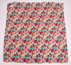 Nicole Miller Multi Color Silk Met Ticket Print 42X42 Scarf