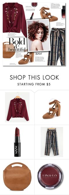 """""""Romwe 1"""" by smajlovicelvira ❤ liked on Polyvore featuring NYX, VereVerto, Magdalena and Yves Saint Laurent"""