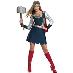 thor costumes for adults | Thor and Sexy Thor Costume - Adult Costumes For Couples