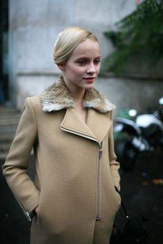 Beige coat, Oshawa Centre Inspiration