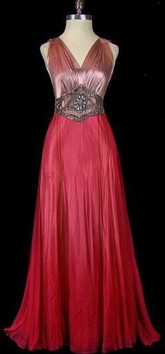 Gorgeous vintage gown 1945.