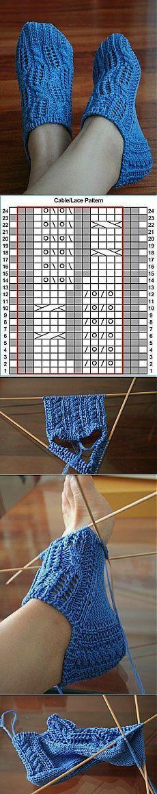 Схема вязания носков спицами. Следки вязаные спицами подробно | Все о рукоделии: схемы, мастер классы, идеи на сайте labhousehold.com Cable Knitting, Knitting Socks, Free Knitting, Crochet Motif, Crochet Baby, Knit Crochet, Knitted Slippers, Baby Boots, Crochet Clothes