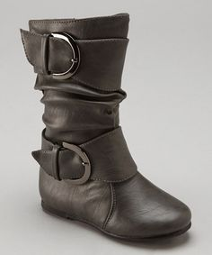 Love this Gray Data Buckle Boot by Lucky Top on #zulily! #zulilyfinds