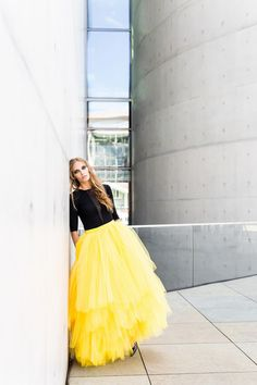 S081 multilayer tulle skirt