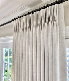 Willow Bloom Home Harper Parchment Drapes Living Room Drapes, Living Room Windows, Living Room Modern, Home Living Room, Living Room Designs, Living Room Decor, Curtain Ideas For Living Room, Bedroom Drapes, Luxury Curtains