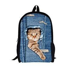 Mochila con diseño de gato asomado