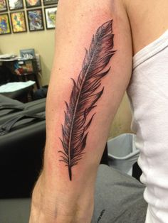 My Tattoo #1 - Raven feather