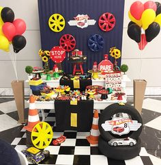 Ideas Monster Truck Birthday Party Decorations Race Cars For 2019 Car Themed Parties, Cars Birthday Parties, Diy Birthday, Birthday Party Decorations, Transformers Birthday Parties, Hot Wheels Party, Hot Wheels Birthday, Monster Truck Birthday, Monster Trucks