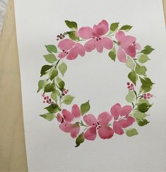 's . . . #watercolor #watercolorflower #floralwreath #flower #watercolorwreath