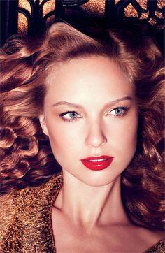 #Holiday #Makeup - Laura Mercier 'Art Deco Muse' Collection #Nordstrom #Beauty #wintermakeup #holidaymakeup #redlip #boldlip
