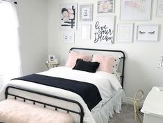 Bedroom Decor For Teenage Girls Blush Pink - Black And Blush Pink Girls Room Decor Great Teenager Girls Room Pin On Teen Girl Bedrooms Pin On Kilyn Teenage Girl Room Decor Ideas In Pink Copper Bl. Small Room Bedroom, Trendy Bedroom, Diy Bedroom, Bedroom Girls, Bedroom Themes, Bedroom Black, Modern Bedroom, Bedroom Ideas For Teen Girls Small, Black And White Bedroom Teenager