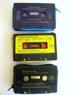 DIY recycled cassette tape wallet....yes please :)