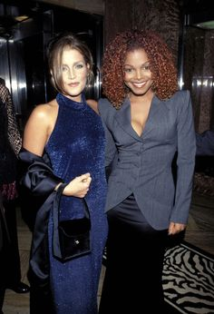 1997 Lisa Marie Presley with Janet Jackson.... Lisa was married to Michael Jackson for a short time