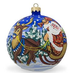4 Santa Gifts Reindeer Bunnies Animal Glass Ball Christmas Ornament -- This is an Amazon Affiliate link. You can get more details by clicking on the image.
