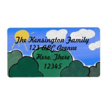 Address Label. Digitally designed by Gina Lee Manley ©gleem