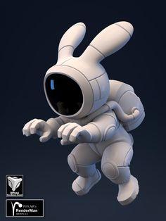 ArtStation - Rocket Rabbit Pilot, Brice Laville Saint-Martin