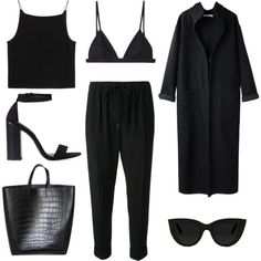 A fashion look from April 2014 featuring T By Alexander Wang tops, Apiece Apart coats and Alexander Wang pants. Browse and shop related looks.