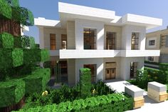 I really need to know people's secrets for building modern houses in minecraft!!! Can I have this house???