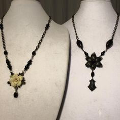 FUF 5/8/15 Gorgeous Ebony Black Brass Pendants