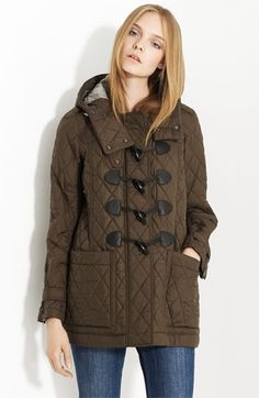 Burberry Brit Toggle Front Quilted Coat | Nordstrom - StyleSays