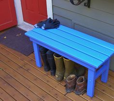 A comfy country bench to sit and take off shoes, boots or sandals before heading inside! This is a handy 3 foot wide, 18 inch high cedar country style bench built strong for outdoor and indoor use - not too big, not too small and just right for your mudroom, hallway, front porch, back door entry, boot & shoe storage area, hot tub, snow room, beach cottage, mountain cabin - anywhere you need a comfy seat for people to relax and take their shoes off!  My Laughing Creek Country Bench is made…