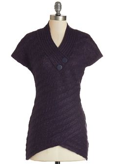 Stick Around Sweater in Purple. If this purple sweater makes you want to cozy up, then you'd better believe your buddies will want to snuggle up next to it, too! #purple #modcloth