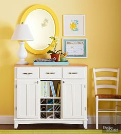 Keep your family's comings and goings organized with a command center fashioned from an old buffet.
