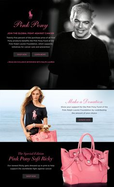 SHOP FOR THE CURE 2013 ~~ Pink Pony Womens Clothing for Breast Cancer from Ralph Lauren Polo @Ralph Lauren