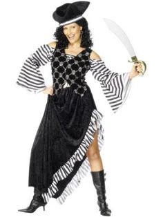 Skulls and Stripes Pirates Party Superstores Fancy Dress Costumes For  Women c96f99296390
