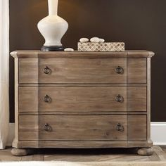 Casual, elegant, and practical, the Corsica 3 Drawer Bachelors Chest - Wire Brushed Artisan makes its case in style. A classic bachelor's. Upholstered Bed Frame, Queen Headboard, Hooker Furniture, Home Office Furniture, Bachelors Chest, Light Crafts, Wire Brushes, Wood Beds, Wood Dust