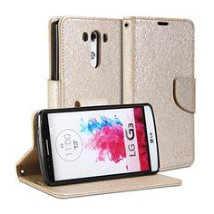 LG G3 Case, GMYLE Wallet Case Classic for LG G3 - Champagne Gold Natural Silk Pattern PU Leather Slim Stand Case Cover (Not Fit For LG G3 S, Beat and Vigor) GMYLE http://www.amazon.com/dp/B00OXOFAP4/ref=cm_sw_r_pi_dp_tIo7ub1F741C6