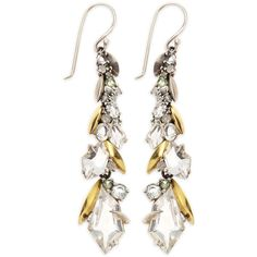 Alexis Bittar Fine Quartz (1,785 CAD) ❤ liked on Polyvore featuring jewelry, earrings, orecchini, silver, quartz jewelry, clear quartz jewelry, diamond cluster earrings, alexis bittar earrings and grey earrings