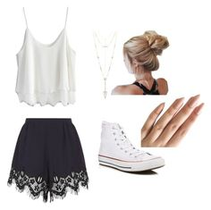 """""""Untitled #9"""" by angielover15 on Polyvore featuring Chloé, Chicwish, House of Harlow 1960 and Converse"""