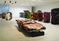 Cesar - sculptures created from crushed and compressed vehicles.