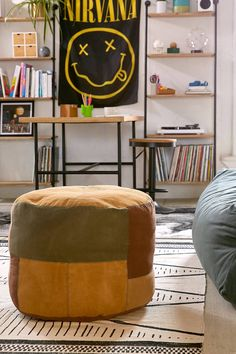 Slide View: 1: Patched Pouf