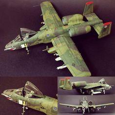 """Fairchild A-10A Euro 1"" 1/48 Tamiya. Modeler Frédéric Mertès #scalemodel #plastimodelismo #miniatura #miniature #miniatur #maqueta #maquette #modelismo #plastickits #usinadoskits #udk #tamiya"