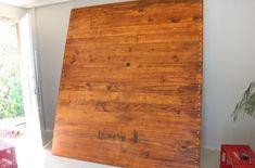 Faça você mesmo painel para TV, de madeira
