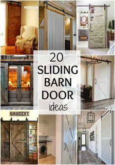 We've got 20 of the BEST Barn Door Ideas for your next home project to add some farmhouse style to your home! We love farmhouse decor and get the look by adding a barn door to your home. See more on http://ablissfulnest.com/ #farmhouse #farmhousedecor #ba