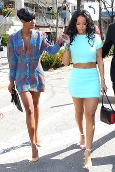 Rihanna and her bff
