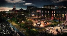 Investment in HemisFair can help define the city of San Antonio. This rendering shows concepts for the civic park at HemisFair Park, the largest segment of the overall redesign. Spanning 15 acres, the civic park faces South Alamo and Market streets. Photo: Courtesy Photo /HPARC