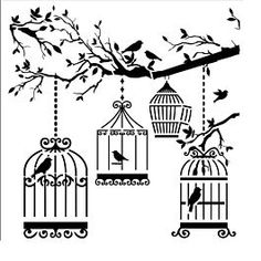 The Crafters Workshop Mini Birds of a Feather Stencil Template Feather Stencil, Feather Template, Bird Stencil, Leaf Template, Damask Stencil, Mask Template, Stencil Patterns, Stencil Designs, Embroidery Patterns