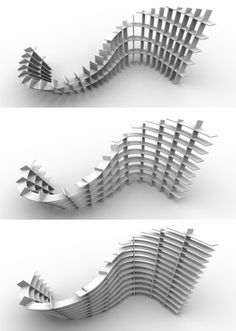 curveture - parametric shelf by Daniel Balo, via Behance