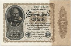 1000 Mark 1922 (Männerportrait nach G. Pencz) Deutschland Weimarer Republik