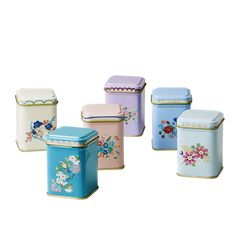Tin Spice Jars , Set of 6