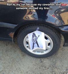 funny photos, funny memes, funny pics, lolz, slash tire