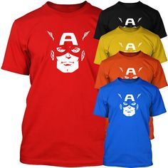 Mouse over image to zoom    Sell one like this  CAPTAIN AMERICA - Super Hero MENS T-Shirt