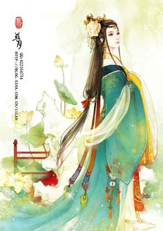 outfit reference 凤仪公主 Ancient China, Ancient Art, Chinese Drawings, Art Drawings, L5r, Fantasy Kunst, China Art, Fantastic Art, Chinese Painting