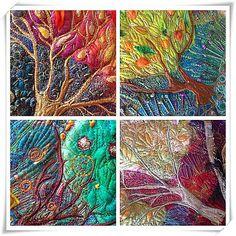 A series of seasonal trees I am working on #homedecor #interiordecorating…